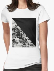 Diagonal Black - Block black and black and white abstract Womens Fitted T-Shirt