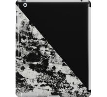 Diagonal Black - Block black and black and white abstract iPad Case/Skin