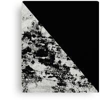 Diagonal Black - Block black and black and white abstract Canvas Print