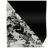 Diagonal Black - Block black and black and white abstract Poster
