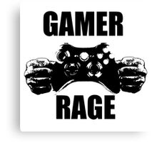 Gamer rage.. Canvas Print