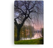 Minnewater Lake Bruges Canvas Print
