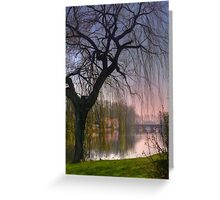 Minnewater Lake Bruges Greeting Card