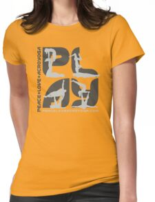 P+L+AY Square Poses Womens Fitted T-Shirt