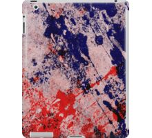 Hot And Cold - Textured Abstract In Blue And Red iPad Case/Skin