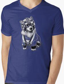 Rebel Corgi Mens V-Neck T-Shirt