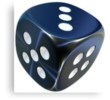 Lucky shiny dice Canvas Print