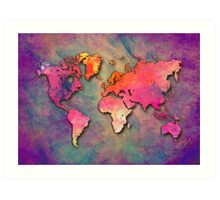 World Map special 4 Art Print