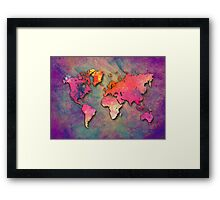 World Map special 4 Framed Print