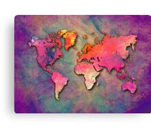World Map special 4 Canvas Print