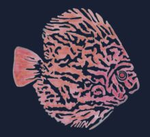 Discus fish One Piece - Short Sleeve