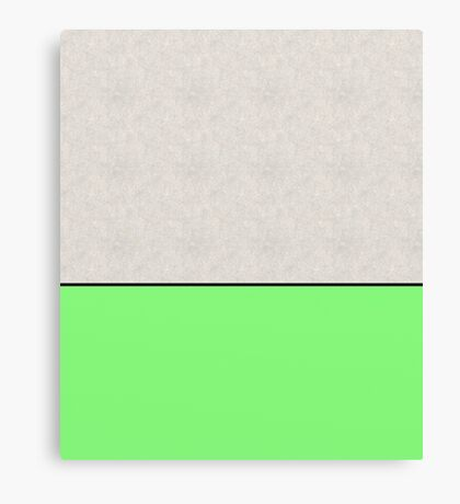 Bathing Concrete (In Green) - Abstract, pop art style painting Canvas Print