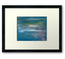 Megan Lewis-Sea of Passion - Original acrylic painting on Canvas Framed Print