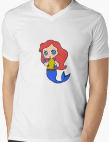 Superhero Princess Mens V-Neck T-Shirt