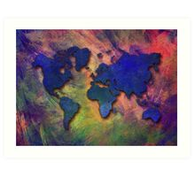 World map special 5 Art Print