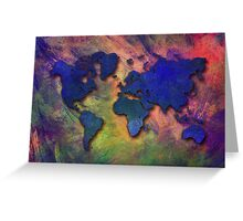 World map special 5 Greeting Card