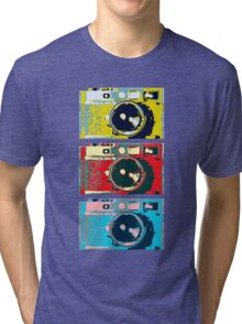 3 Leica M9s Tri-blend T-Shirt