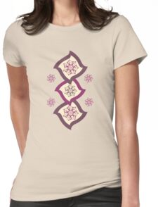 Funny Squares Design Womens Fitted T-Shirt