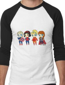 SUPERHERO PRINCESSES Men's Baseball ¾ T-Shirt