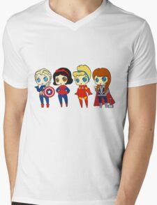 SUPERHERO PRINCESSES Mens V-Neck T-Shirt