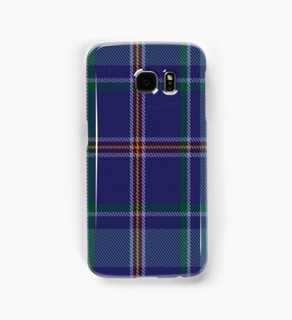 00464 Blue Ridge Highlands Heritage District Tartan  Samsung Galaxy Case/Skin