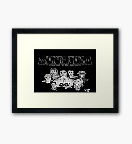 Sidemen Logo and Picture Framed Print