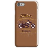 Vintage Motocycle Club Illustration iPhone Case/Skin