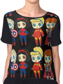 SUPERHERO PRINCESSES Chiffon Top