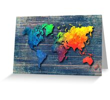 World map special 8 Greeting Card