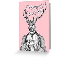Thank you deer Greeting Card