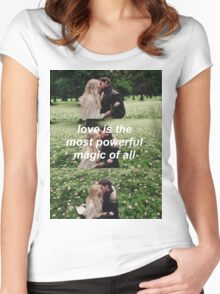 love is the most powerful magic of all Women's Fitted Scoop T-Shirt
