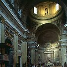 Nave Church Gesu Rome Italy 19840719 0034 by Fred Mitchell