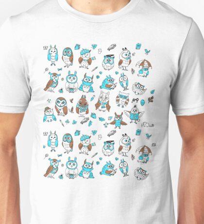 Little owlets pattern brown Unisex T-Shirt