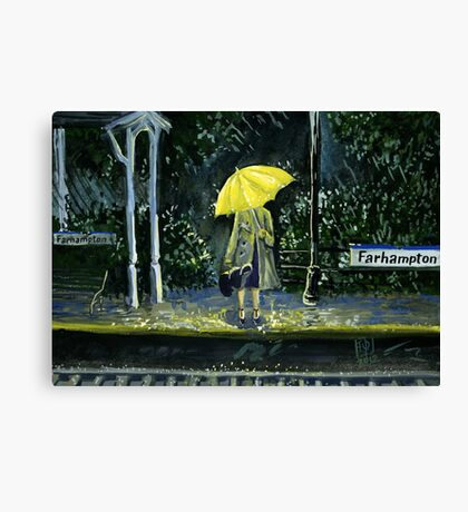 Yellow umbrella part 2 Canvas Print