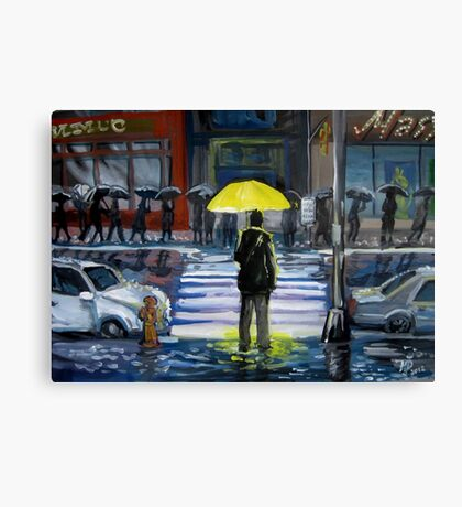Yellow umbrella part 1 Canvas Print