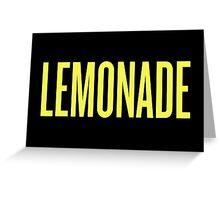 Lemonade Beyonce typography Greeting Card