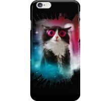 Big eyed cat in space  iPhone Case/Skin