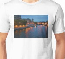 Impressions of Paris - Seine River at Night Unisex T-Shirt
