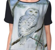 Snowy Owl Chiffon Top