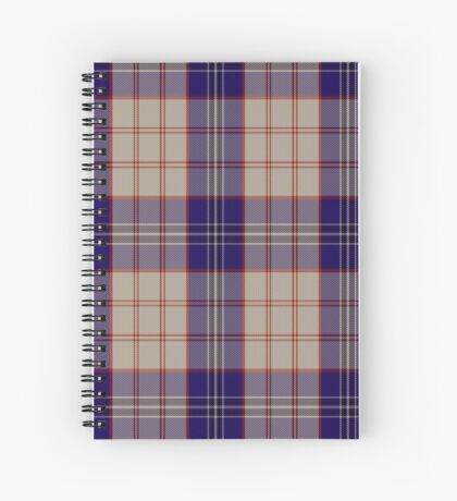 00485 Harris Royal Blue Tartan Spiral Notebook