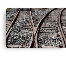 Tracks in a Railyard Canvas Print
