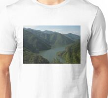 Verdant Mountains Spilling in the Green Water Unisex T-Shirt