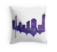 Real Life, Real Love...in Boston Throw Pillow
