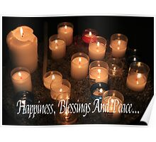 Hapiness, Blessings and Peace Poster