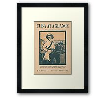 Artist Posters Cuba at a glance by A O'Hagan and EB Kaufman 0922 Framed Print