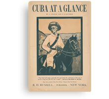 Artist Posters Cuba at a glance by A O'Hagan and EB Kaufman 0922 Canvas Print