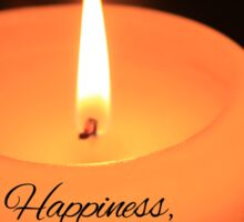 Happiness, Blessings and Peace... Sticker