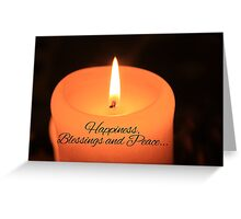 Happiness, Blessings and Peace... Greeting Card