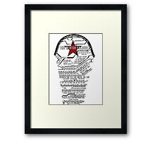 The Winter Soldier Quotes Framed Print