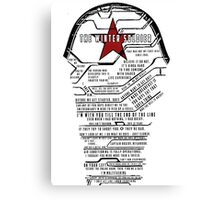 The Winter Soldier Quotes Canvas Print